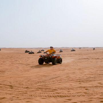 Quad bike at Desert safari